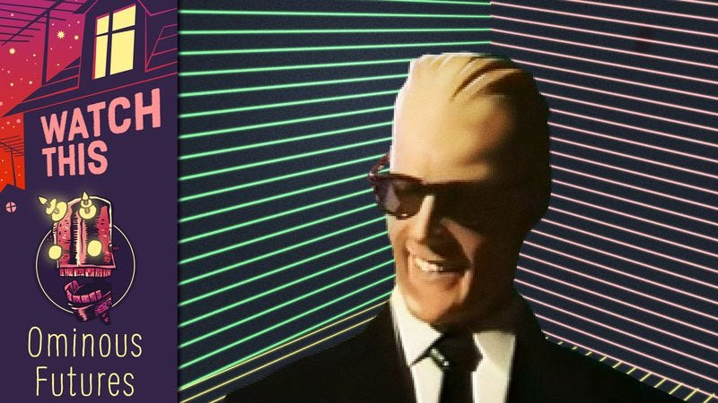 Illustration for article titled Max Headroom: The wiseass AI who hacked his way into America's heart