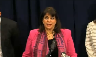 Florida State Attorney Angela Corey at a news conference after the Michael Dunn verdictYouTube