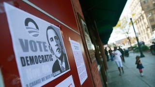 A Barack Obama poster is seen in the Civil Rights District Nov. 5, 2008, in Birmingham, Ala.Mario Tama/Getty Images