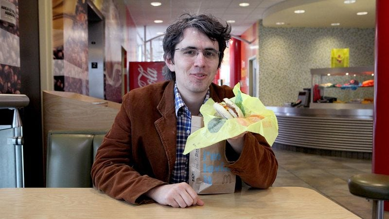 Illustration for article titled Man Overjoyed He No Longer Has To Purchase Entire Day's Worth Of Egg McMuffins In Morning