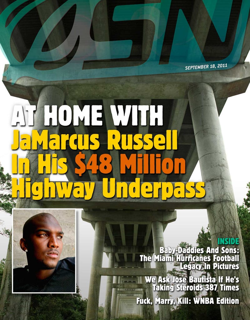 Illustration for article titled At Home With JaMarcus Russell In His $48 Million Highway Underpass