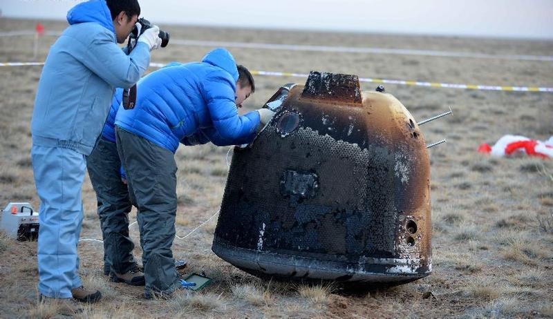 Illustration for article titled La sonda lunar china regresa a la Tierra tras recorrer 840.000 km