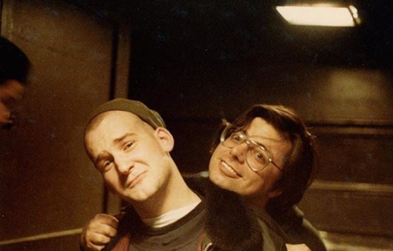 Ian MacKaye (left) poses with Skip Groff (right)