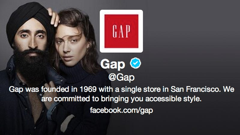 Jerks deface gap ad featuring sikh model gap responds awesomely publicscrutiny Gallery
