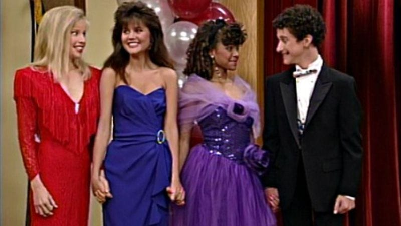 Illustration for article titled A beauty pageant was just a bump in the road for the Saved By The Bell gang
