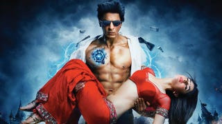 Illustration for article titled Bollywood superhero flick Ra.One is like Tron with dance numbers and crotch punches