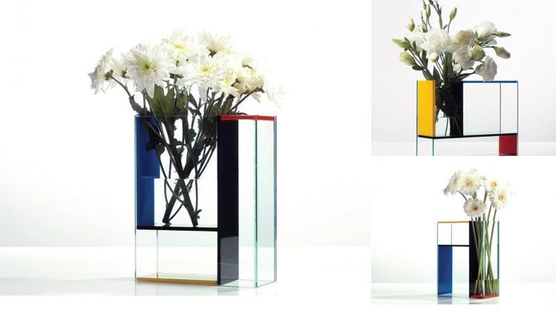 Piet Mondrian Inspired This Three Piece Vase
