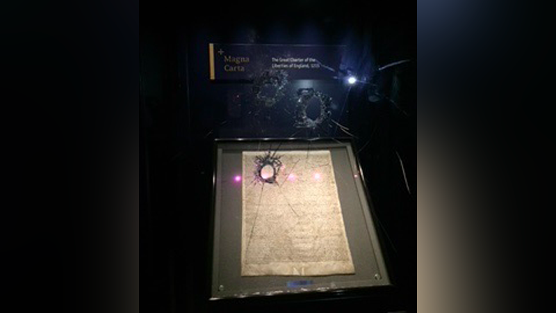 Illustration for article titled Man Arrested for Attempted Theft of Magna Carta After Display Smashed With Hammer