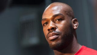 """Ultimate Fighting Championship fighter Jon """"Bones"""" Jones interacts with media during an open training session for fans and media at Jackson's Mixed Martial Arts and Fitness on April 2, 2014, in Albuquerque, N.M.Aaron Sweet/Getty Images"""