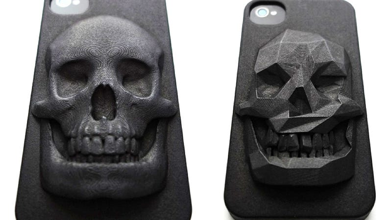Illustration for article titled This Skull iPhone Case Is 3D-Printed and a Piece of Art