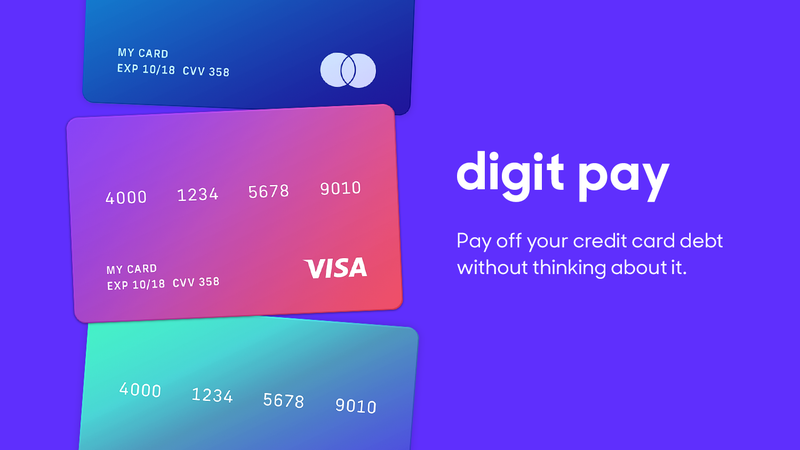 Pay Off Your Credit Card Debt With the Help of the Savings App Digit