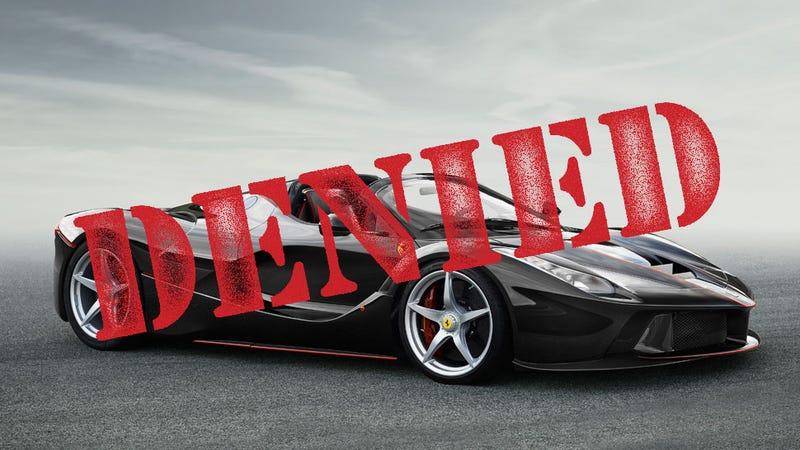 Illustration for article titled Pissed-Off Racing Legend Sues Ferrari For Denying Him A LaFerrari Spider