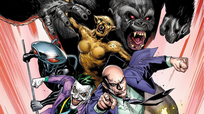 The Legion of Doom assembles in the alternate cover art for Justice League #5.