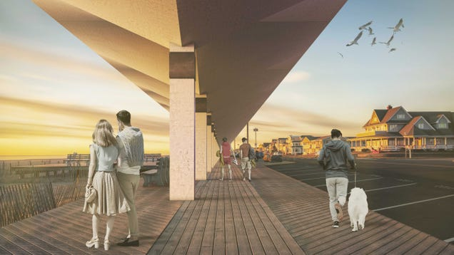 Giant Concrete Umbrellas Could Protect the Lucky Ones From Storm Surge