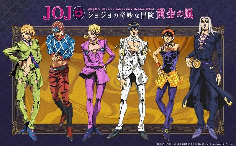 Illustration for article titled Here it is the first teaser ofJoJo's Bizarre Adventure Part 5 : Golden Wind