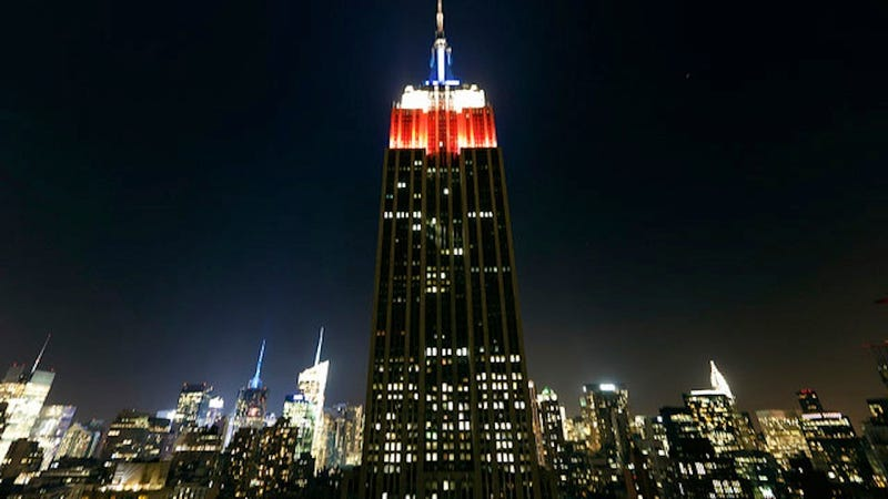 the empire state building will track election results in bright shiny lights. Black Bedroom Furniture Sets. Home Design Ideas