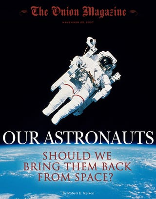 Illustration for article titled Our Astronauts: Should We Bring Them Back From Space?