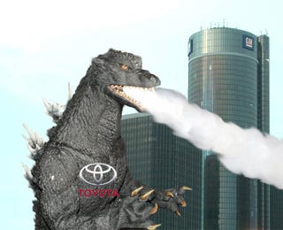 Illustration for article titled Toyota Godzilla Smashes GM To Become World's Biggest Automaker