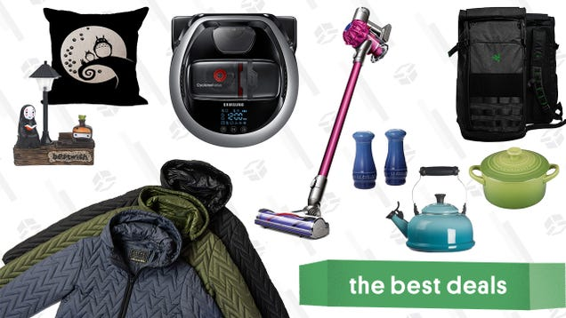 Saturday s Best Deals: Le Creuset Stoneware and Cast Iron, Razer Tactical Laptop Backpacks, Dyson V6 Cordless Vacuum, Samsung POWERbot, JACHS NY Fall Jackets, Studio Ghibli Home Goods, and More
