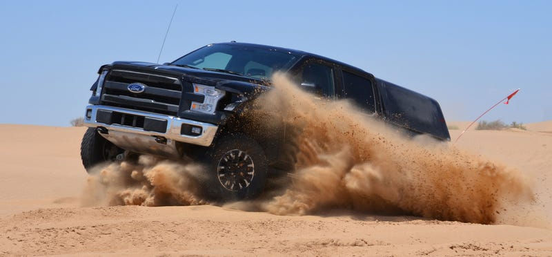 Illustration for article titled 2017 Ford Raptor Claim: '25 Percent Faster' Than The Old One Off-Road