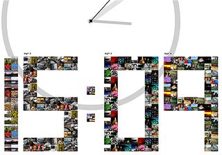 Illustration for article titled Flickr image clock