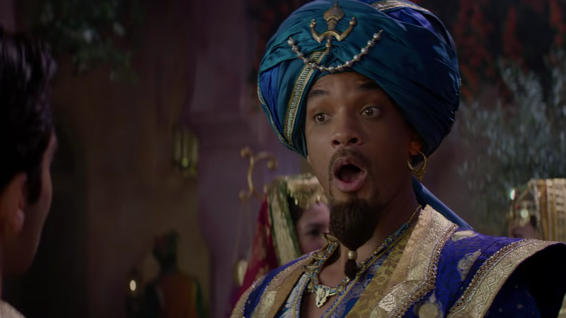 "Illustration for article titled Will Smith sings ""Prince Ali,"" misclassifies ostriches in new Aladdin clip"