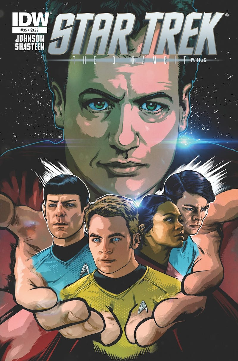 Illustration for article titled Q Stops By J.J. Abrams' New Star Trek Universe To Make Trouble