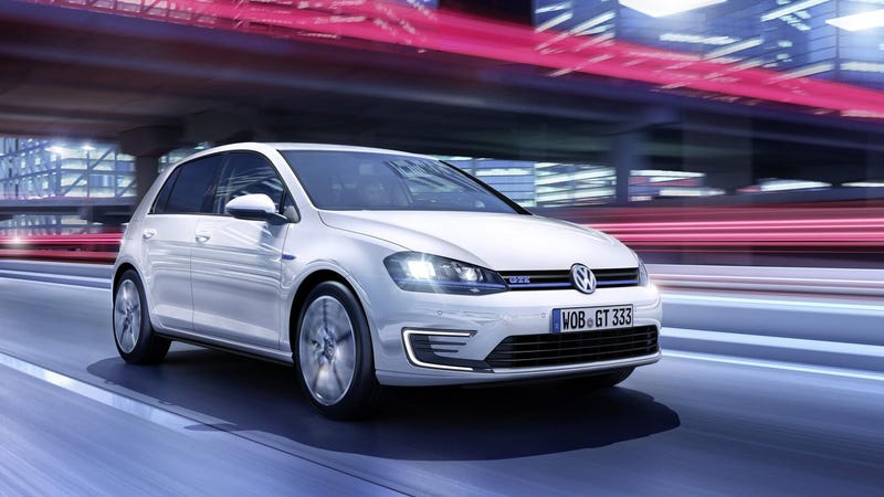 the volkswagen golf gte is a 130 mpg plug-in hybrid gti