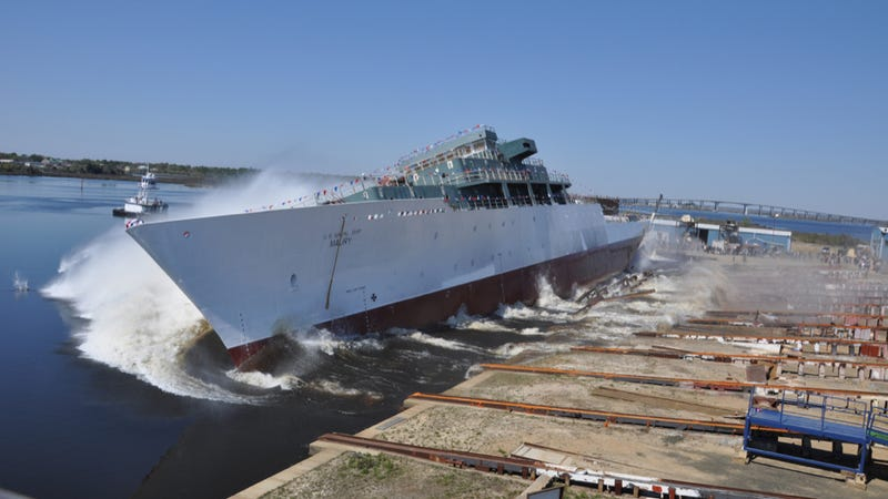 The USNS Maury is launched at VT Halter Marine in 2013. Photo credit: National Museum of the U.S. Navy