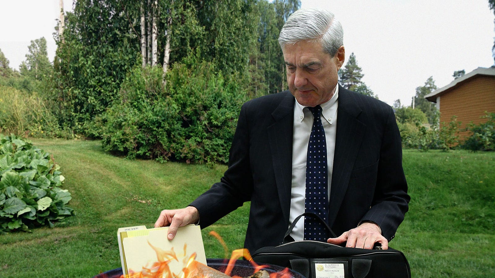 Distraught Mueller Burns Every Piece Of Evidence In Case After Hearing Trump's Critique Of U.S. Intelligence Community