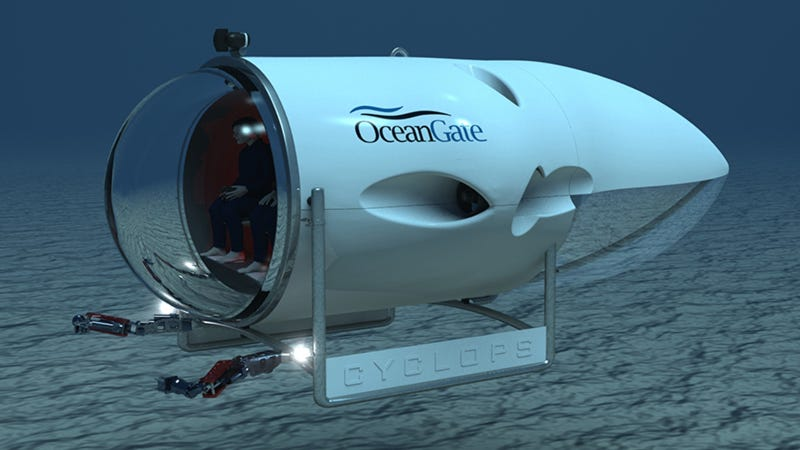 Illustration for article titled This 5-Man Mini-Sub Brings the Deep Ocean's Treasures Within Reach