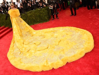 Illustration for article titled Rihanna is Literally the Belle of the Ball at the Met Gala