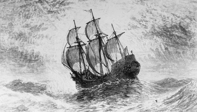 Illustration for article titled New Historical Evidence Suggests Most Pilgrims Sailed Back Home To Celebrate First Thanksgiving