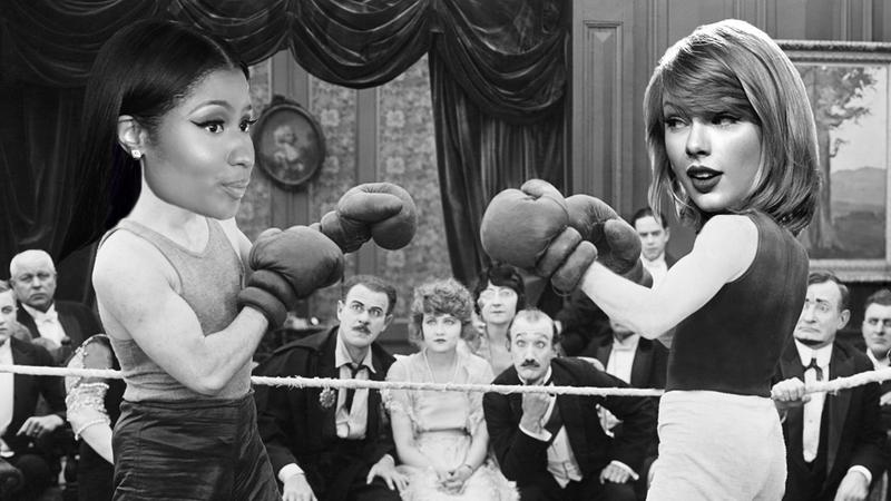 Illustration for article titled Celebrity Fight Referee: A Taylor Swift vs. Nicki Minaj Battle Royale