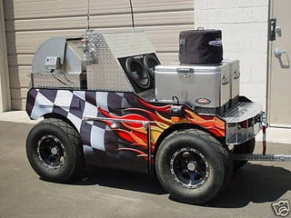 Illustration for article titled $17k NASCAR Tailgating Trailer Is Drool-Worthy