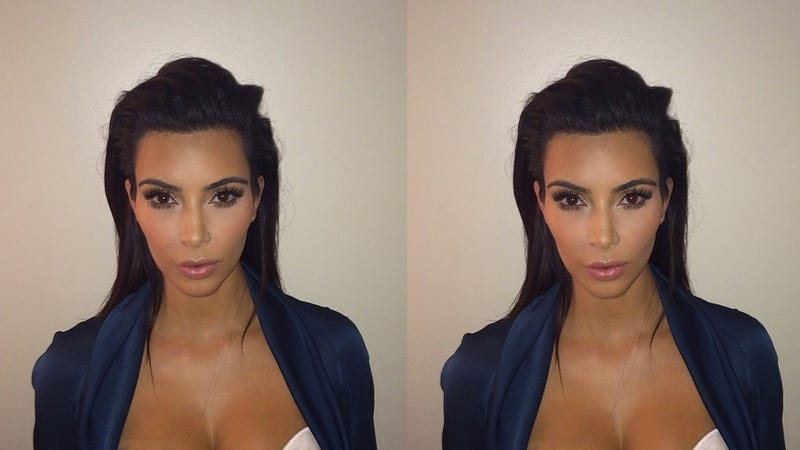 Illustration for article titled Kim Kardashian Posts Seductive Passport Pic, Changes Name to Kim West