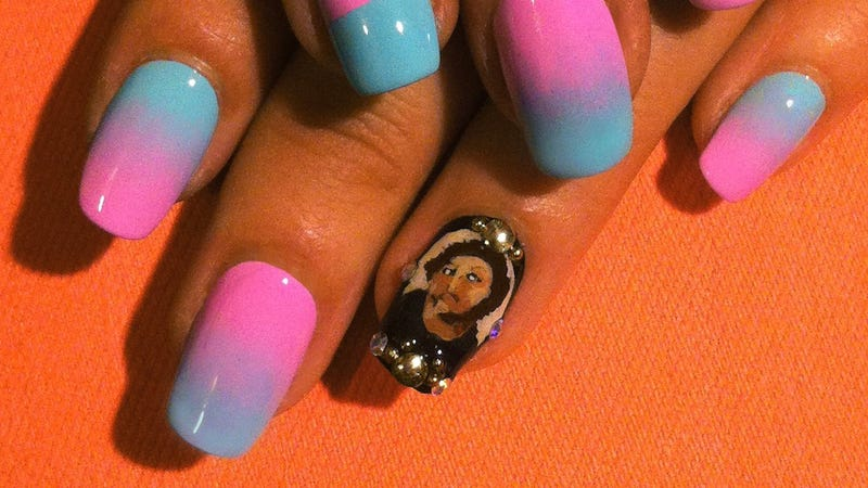 Jesus fresco nail art is the best thing in the world prinsesfo Gallery