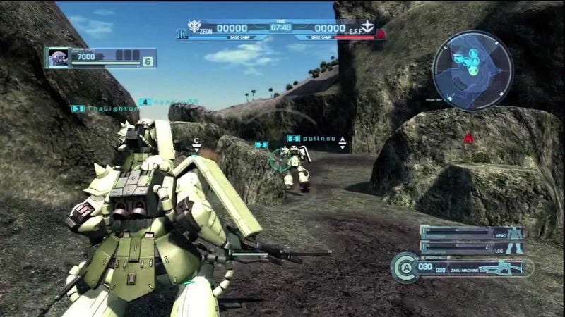 Pictured Above: Mobile Suit Gundam: Battle Operation for the PlayStation 3.