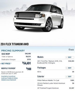 a ford flex costs how much. Black Bedroom Furniture Sets. Home Design Ideas