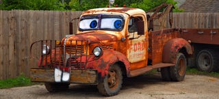 Illustration for article titled Check Out Mater The Tow Truck's Shifty-Eyed Cousin IRL