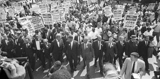 The historic March on Washington for Jobs and Justice in 1963 (AFP/Getty Images)