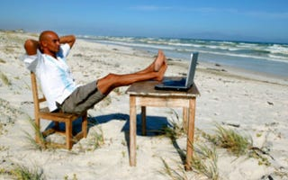 Write from home — or the beach — in this job. (Goodshoot)