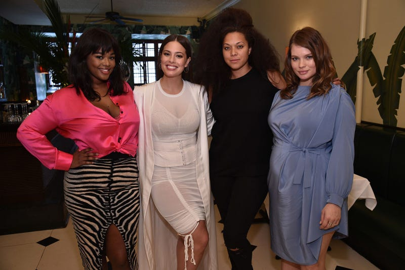 Models Precious Lee, Ashley Graham, Julie Henderson and Tara Lee attend the celebration of the launch of Graham's new book, A New Model, at Indochine in New York City on May 11, 2017. (Bryan Bedder/Getty Images for Lane Bryant)