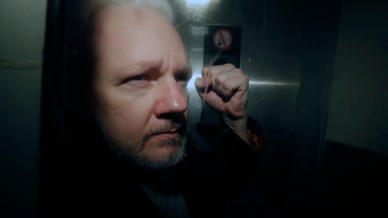 Julian Assange in custody in the UK on May 1, 2019