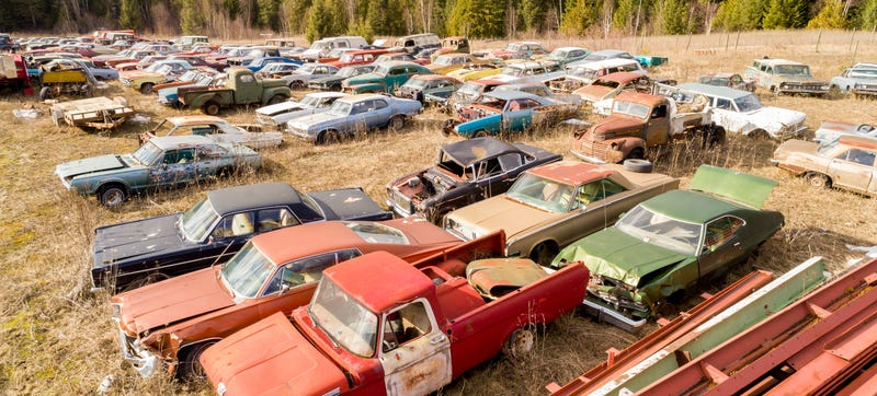 Illustration for article titled This Secret 340-Car Collection In Canada Is Up For Grabs