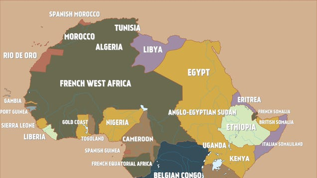 A Map Of Colonial Africa Just Before