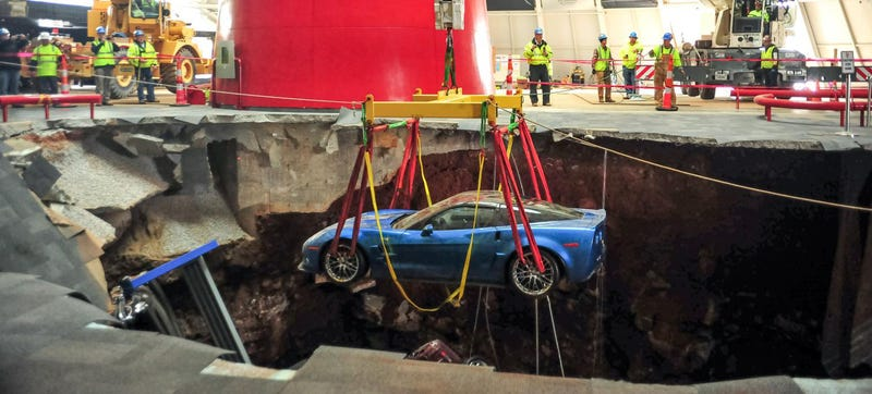 Illustration for article titled The First Sinkhole Corvette Was Restored For SEMA And Looks Perfect