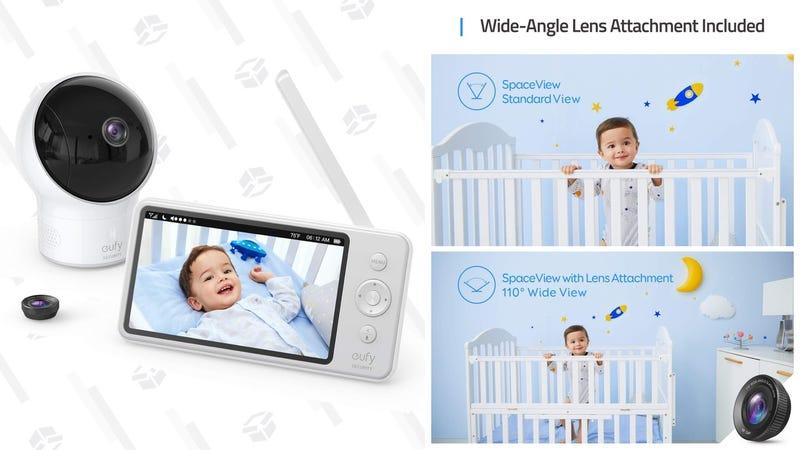 Monitor para bebés Eufy SpaceView | $135 | AmazonGráfico: Shep McAllister