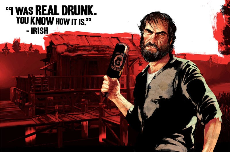 Illustration for article titled Red Dead Redemption Raises Irish Ire For Its Token Drunk
