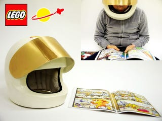 Illustration for article titled A Lego Helmet For Making Comics Books' Zaps! Pows! Bangs! Even Louder